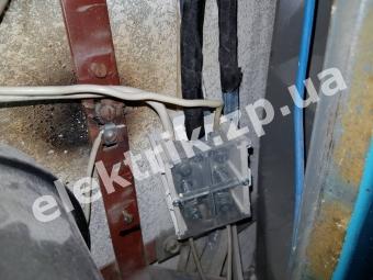 Замена шины для проводов на этажном щитке.